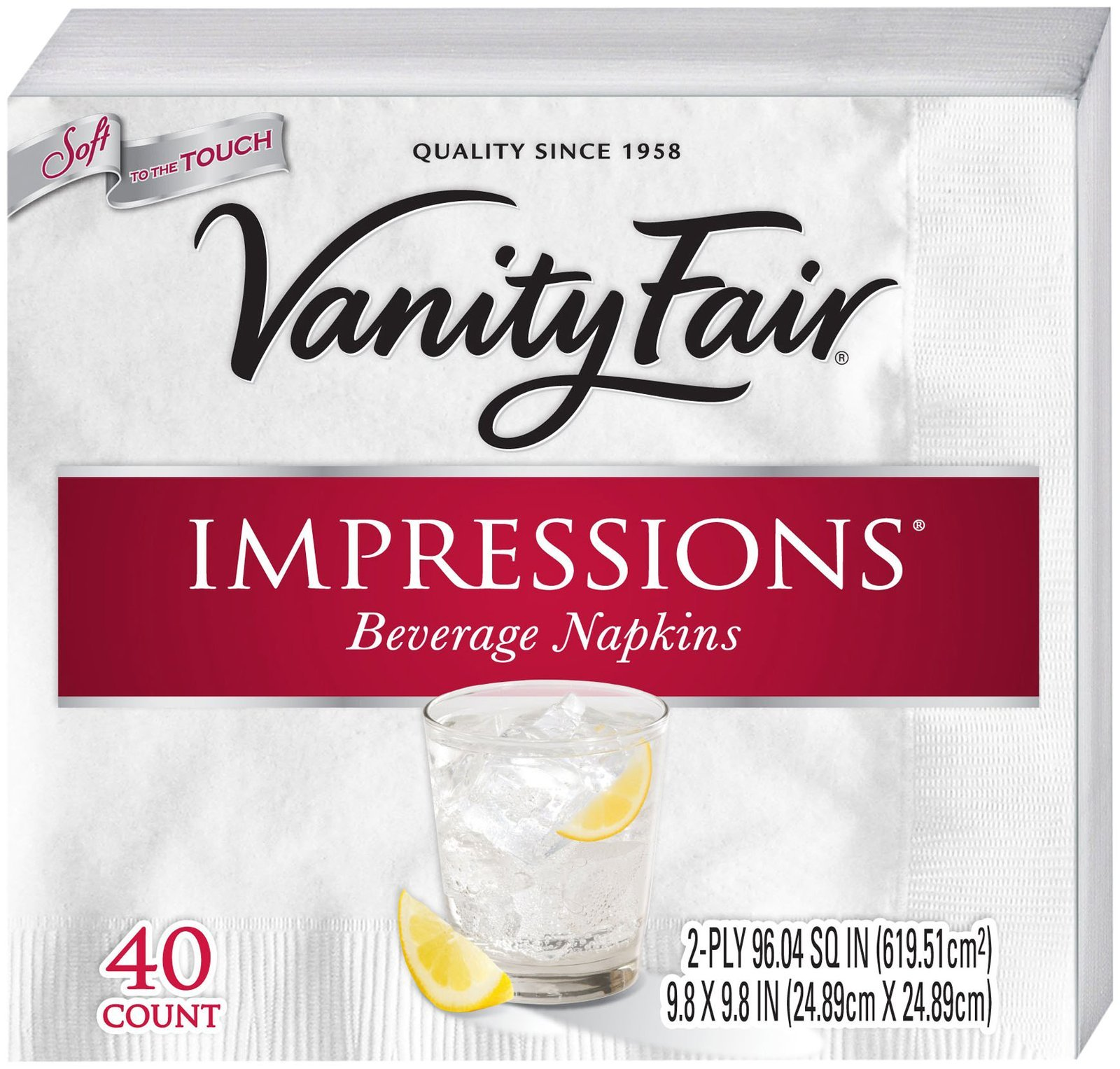 Vanity Fair Impressions Beverage Napkin, 480 Count