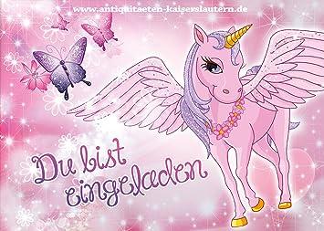 10 Einladungskarten Zum Kindergeburtstag   Einhorn   Pferd   Mädchen    Party   Geburtstag 1