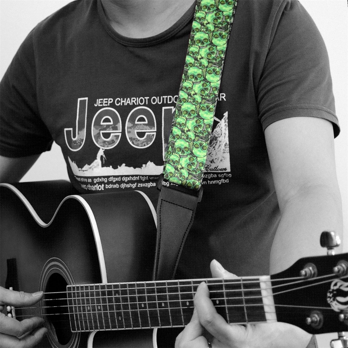 Includes 3 Pick Holders Cotton Strap Basics Adjustable Guitar Strap For Electric//Acoustic Guitar//Bass Blue