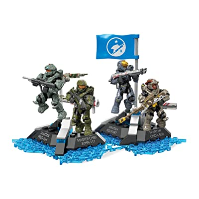 Mega Construx Halo Ultimate Blue Team Building Set: Toys & Games