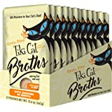 Tiki Cat Savory Broth, Grain Free Lickable Wet Food Treat, Add Moisture & Boost Flavor, 12 pouches