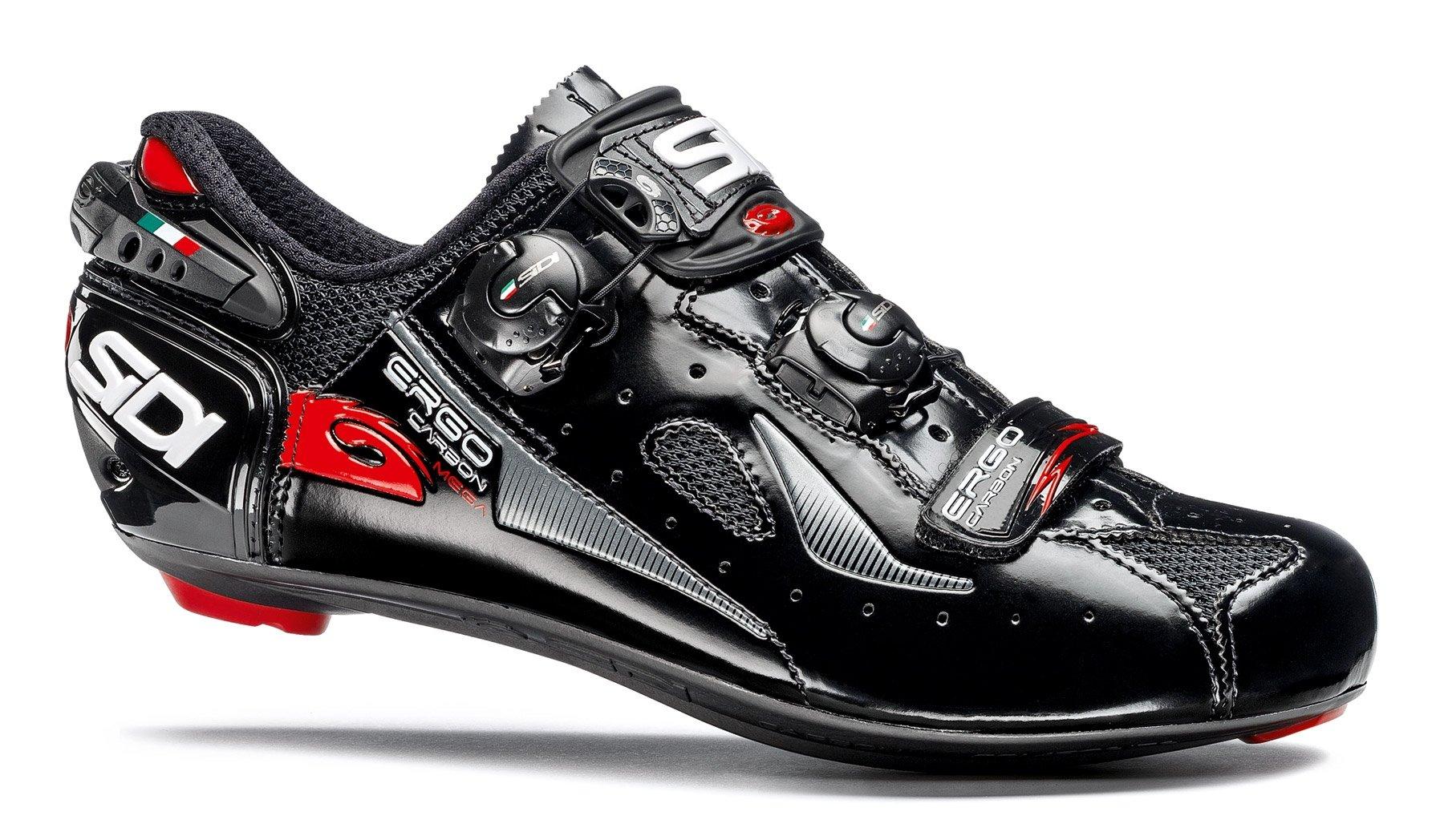 Sidi Ergo 4 Mega Carbon Road Cycling Shoes - Black/Black (41 EU)