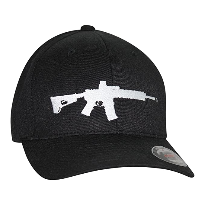 3ebf7f17726 Bang Bang Apparel Men s  AR-15  Embroidered Flexfit Baseball Cap (Small