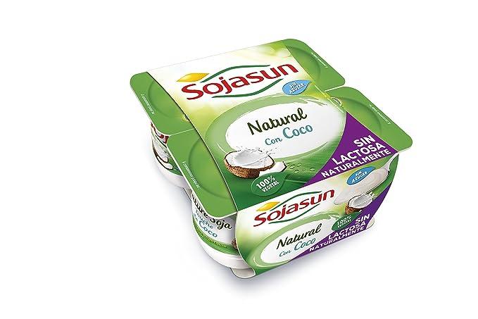 Sojasun Yogur Natural Soja con Toque de Coco - 4 Unidades