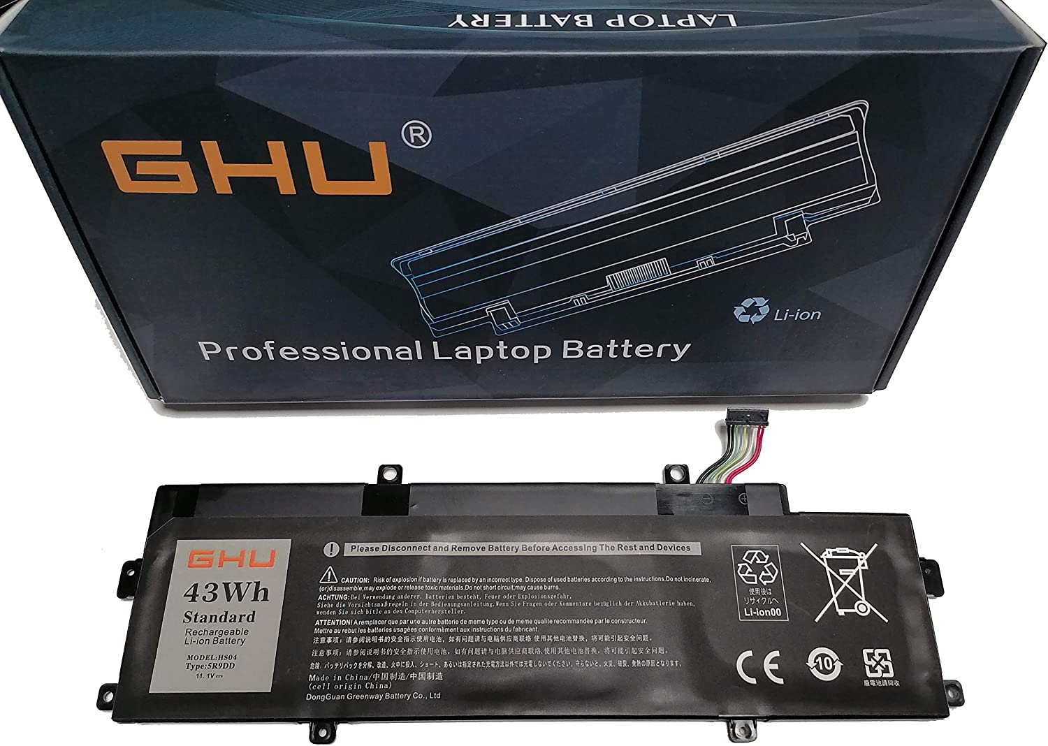 New GHU 43Wh 5R9DD Battery Compatible with Dell Latitude Chromebook 11 (3120) P22T Series Fits P/N KTCCN 0KTCCN XKPD0 P22T001