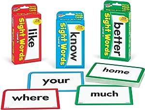 TREND ENTERPRISES, INC. Sight Words Bundle - Pocket Flash Cards Set - for Home, Travel, Classroom