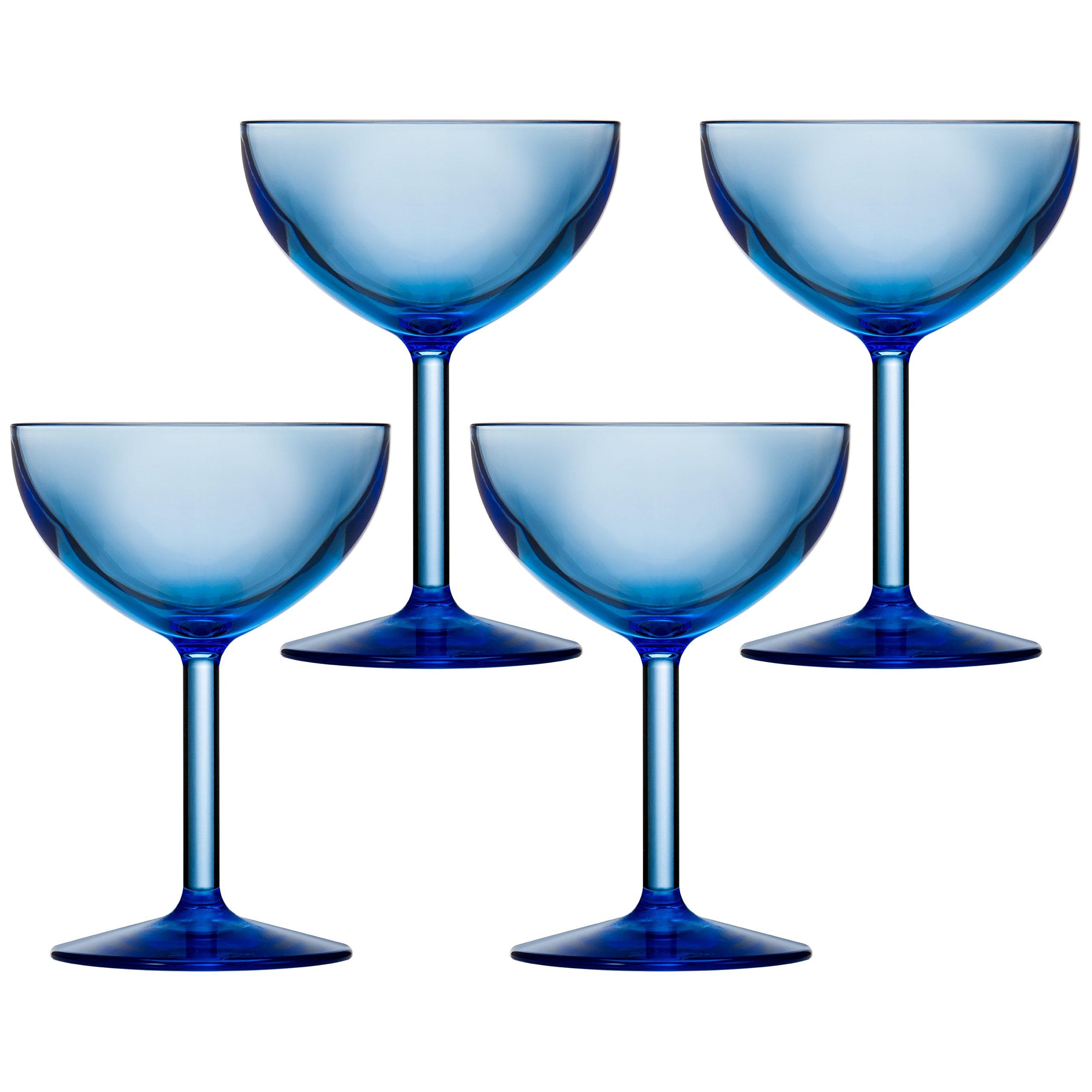 Drinique VIN-CU-BLU-24 Champagne Coupe Unbreakable Tritan Stemware, 8 oz. (Case Of 24), Blue by Drinique (Image #2)