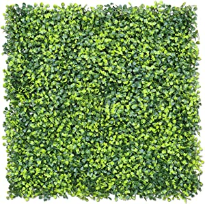 """E&K Sunrise 6pcs 20""""x20"""" Artificial Boxwood Hedge Panel, Decorative Privacy Fence Screen Greenery Faux Plant Tree Wall for Indoor or Outdoor Garden Décor"""
