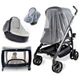 Baby Mosquito Net for Strollers, Carriers, Car Seats, Cradles. Fits Most PacknPlays, Cribs, Bassinets & Playpens. 44 x…
