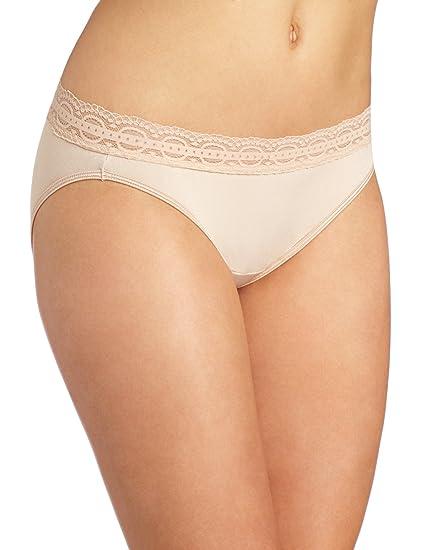 081b217edbdc Vanity Fair Women's Illumination with Lace Bikini Panty 18208 - Rose Beige  - 8