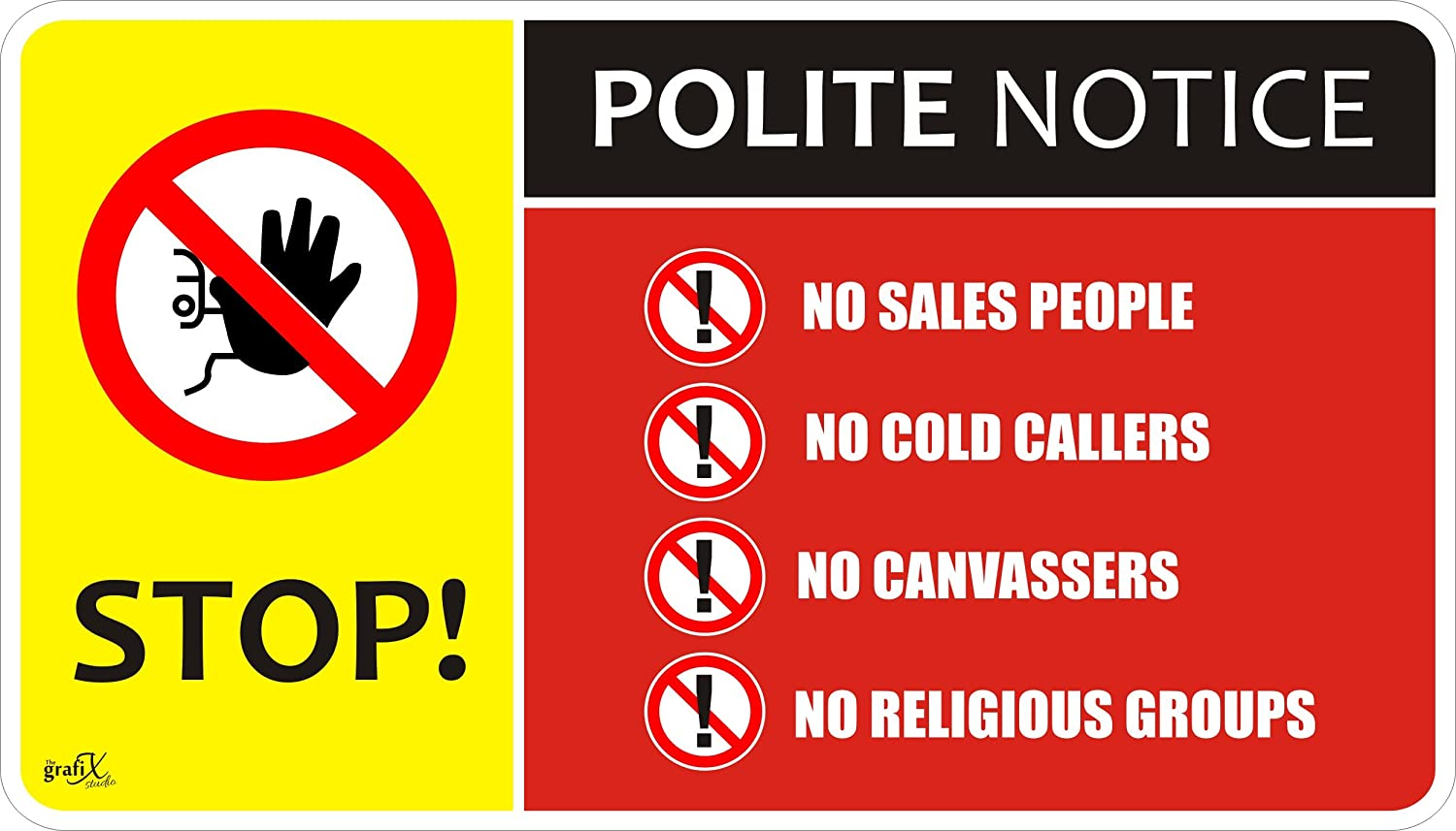 No Cold Calling Door//Window//Letterbox Safety Signs Sticker Self Adhesive 140mm x 80mm cc2