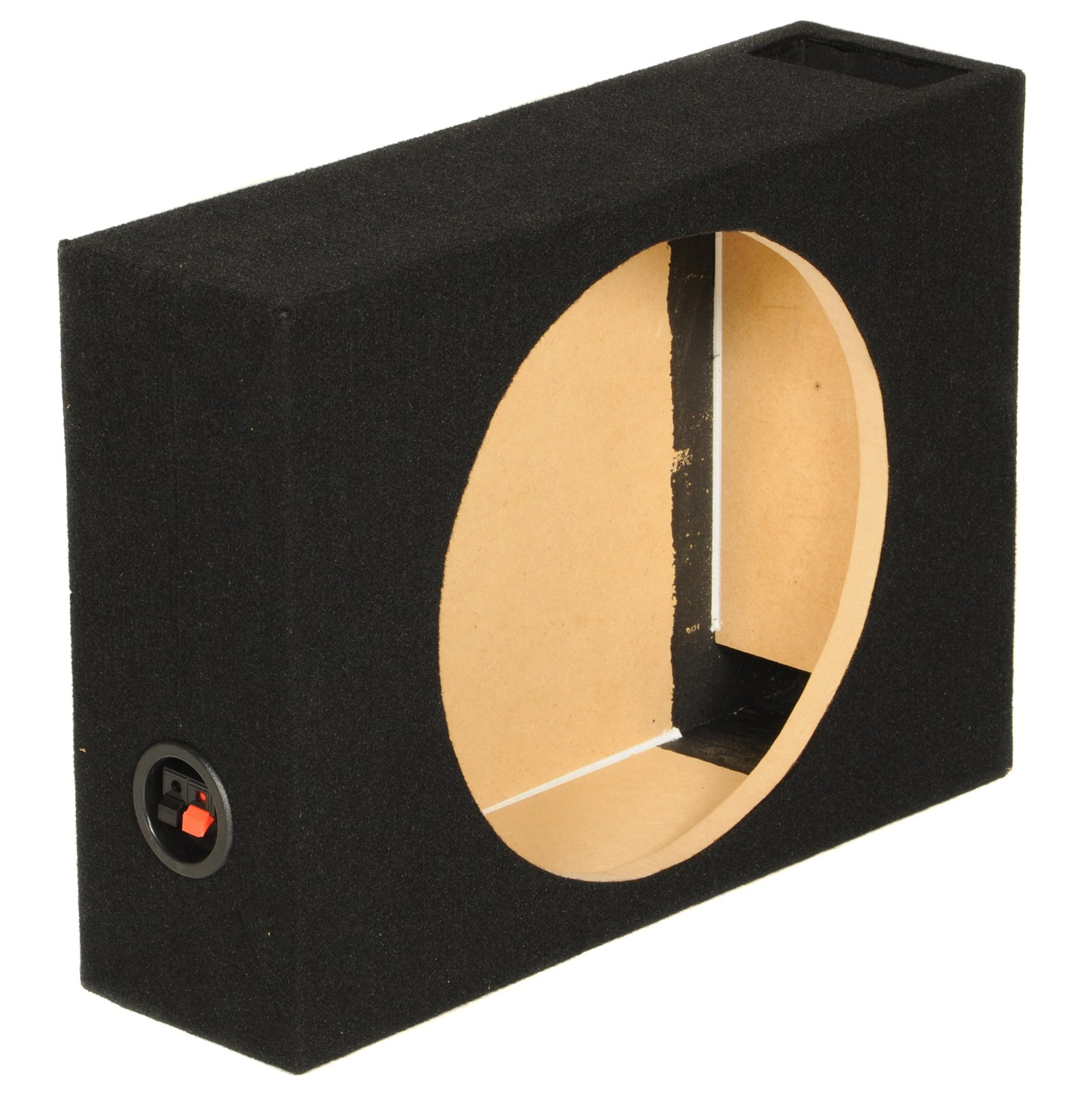 Qpower Single 10'' Shallow Vented Woofer Box