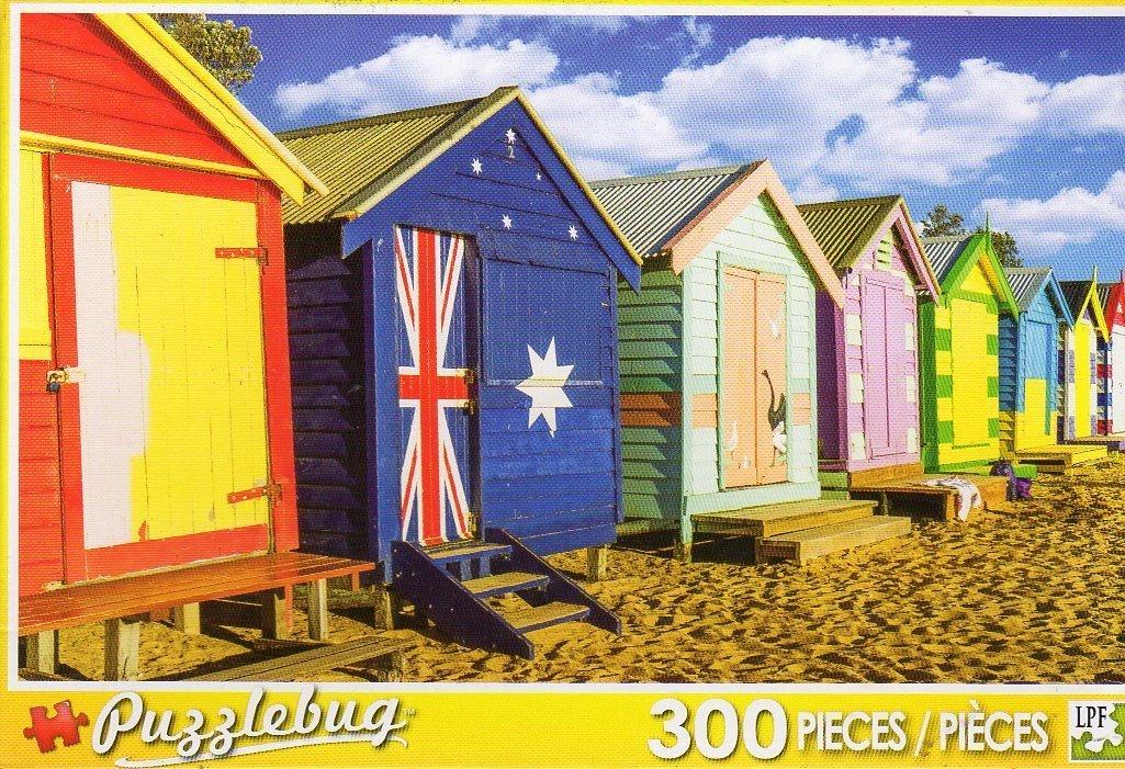 Brighton Beach Huts Australia - 300 Piece Jigsaw Puzzle by Puzzlebug