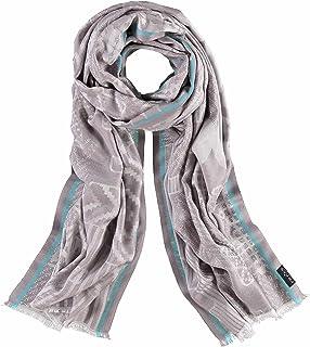 4402a753813f Fraas Echarpe - Imprimé Cachemire - Femme - Bleu - Taille unique ...