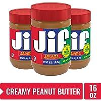 3-Pack Jif Creamy Peanut Butter 16oz