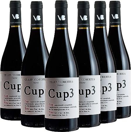 CUP3 - (PACK 6 BOTELLAS x 750 ML) - VINO TINTO JOVEN - DO CONCA DE BARBERÀ - MONOVARIETAL TREPAT - VINO DE AUTOR CON CARÁCTER PROPIO
