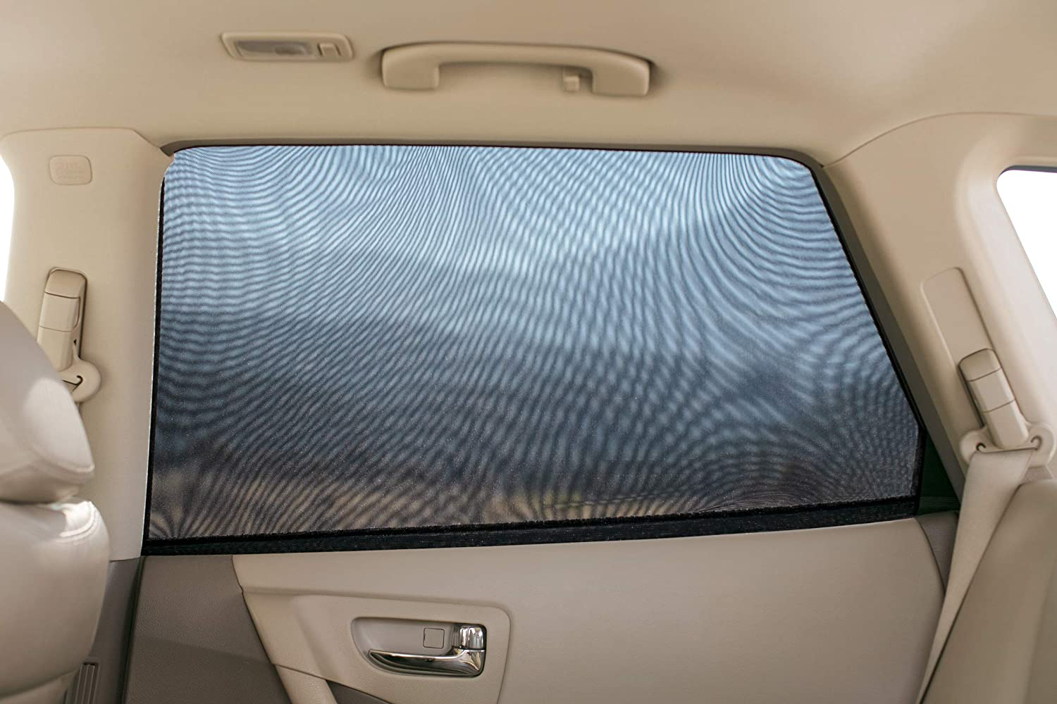 Elasticized Universal Mesh Car Shades Fit Most Vehicles Magnelex Sock Style Car Window Shades for Baby 2 Pack Block Sun Rays to Keep Passengers Pets and Car Interior Cool and Comfortable