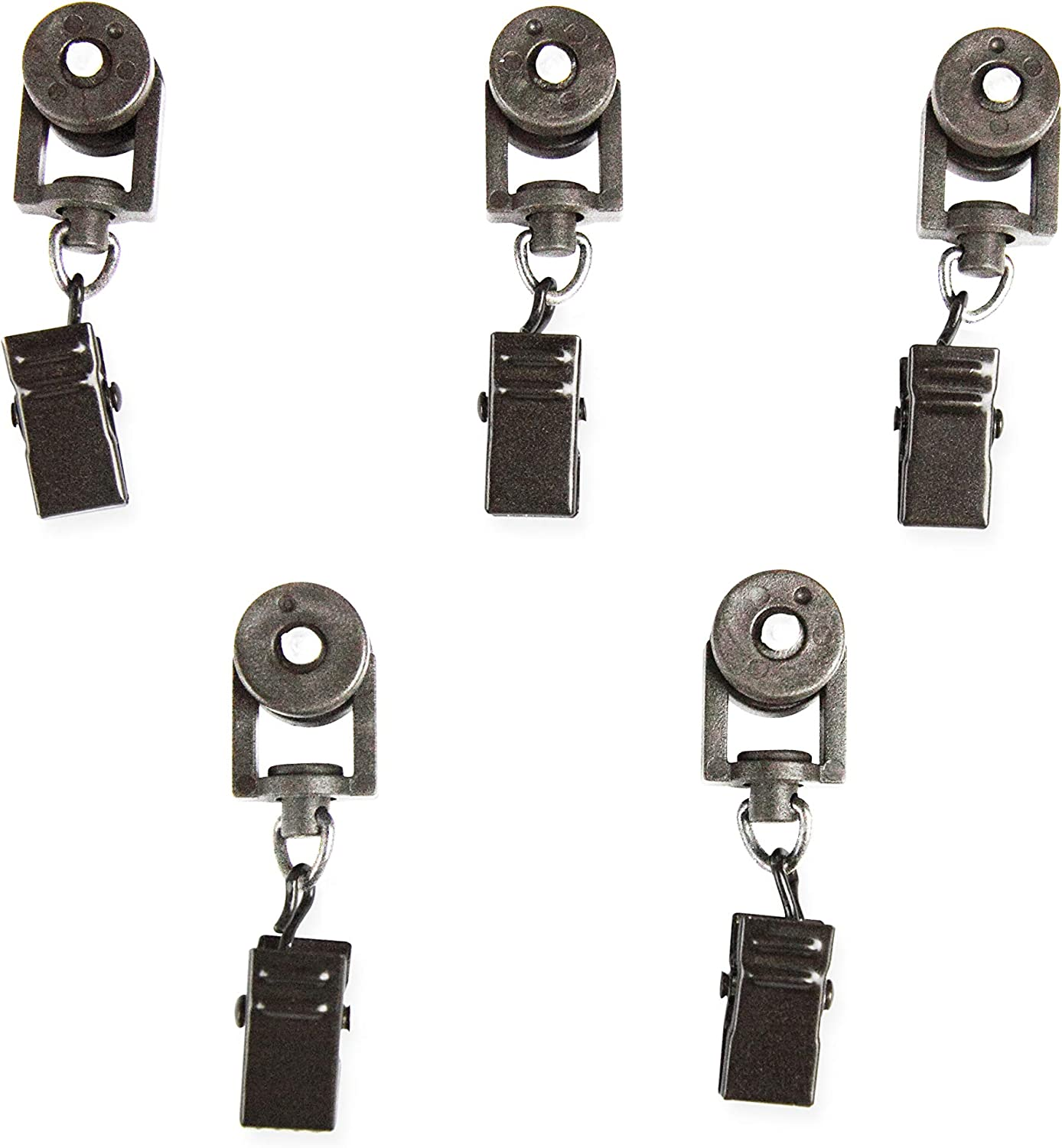 Rod Desyne 10 Sliders for CH Track Traverse Rods, Pewter