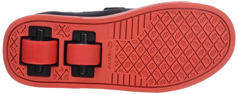 7df38a2de30c8 Heelys Kids' Spiffy Black/RED/Flames Canvas Sneaker