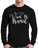 Awkward Styles Men's Viva La Brunch Humorous Graphic Long Sleeve T shirt Tops