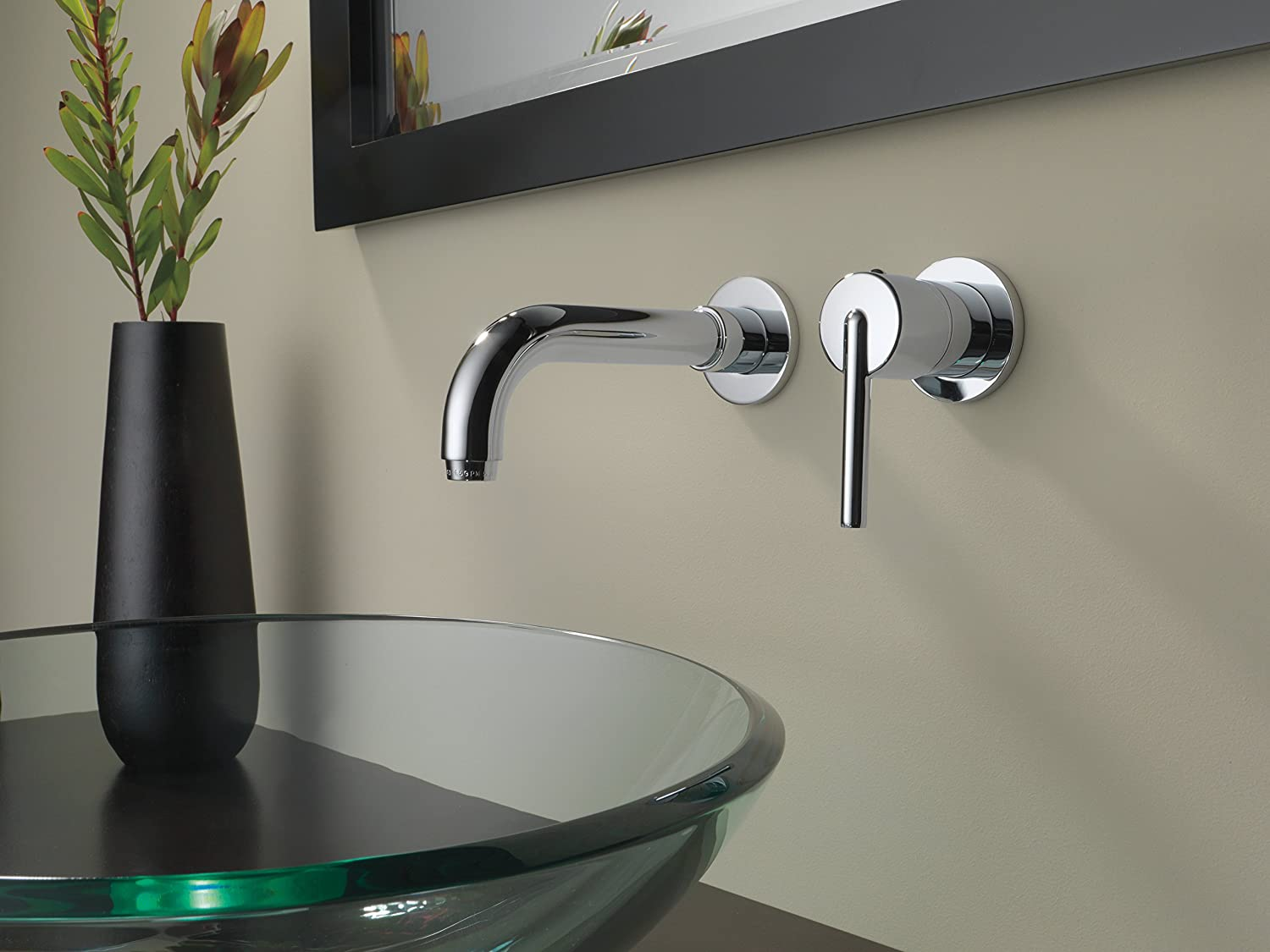 Amazon.com: Delta Faucet T3559LF-WL Trinsic Single Handle Wall Mount ...
