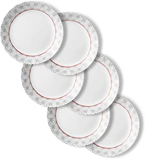 product image for Corelle Chip Resistant Dinner Plates, 6-Piece, Amalfi Rosa