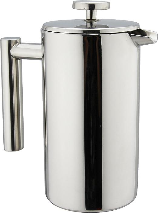 Zouminyy Cafetera French Press 600ml port/átil de acero inoxidable Glass French Press Coffee Cup Pot /Émbolo Tetera