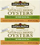 Crown Prince Natural Smoked Oysters In Pure Olive Oil - 3 oz - 3 Pack
