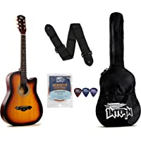 Intern INT-38C Acoustic Guitar Kit, With Bag, Strings, Pick And Strap, Sunburst