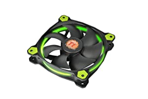 Thermaltake Ring 14 High Static Pressure 140mm Circular Ring Case/Radiator Fan with Anti-Vibration Mounting System Cooling CL-F039-PL14GR-A Green