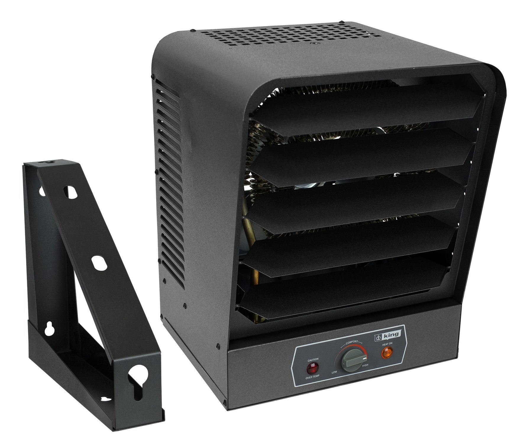 King Electric GH2405TB 240V 5000W Garage Heater with Bracket and Thermostat, Gray by King Electric (Image #2)