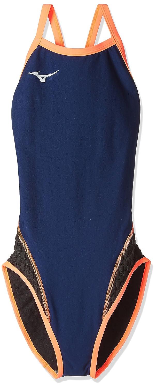 MIZUNO(ミズノ) 競泳水着 レディース エクサースーツ XS~XL サイズ WD ミディアムカット ワンピース N2MA7776 B071716TS2 Small|86:ネイビー×ピンク 86:ネイビー×ピンク Small