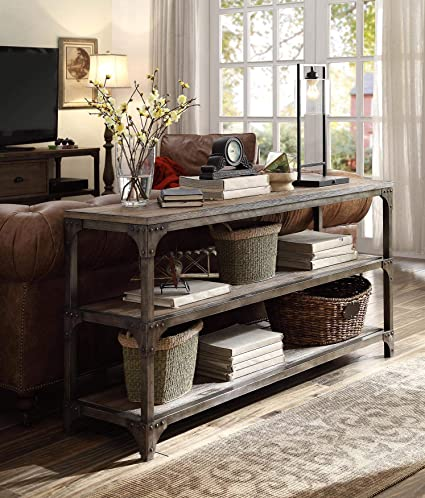 Acme Furniture Acme 72685 Gorden 60u0026quot; Server, Weathered Oak Antique  Silver
