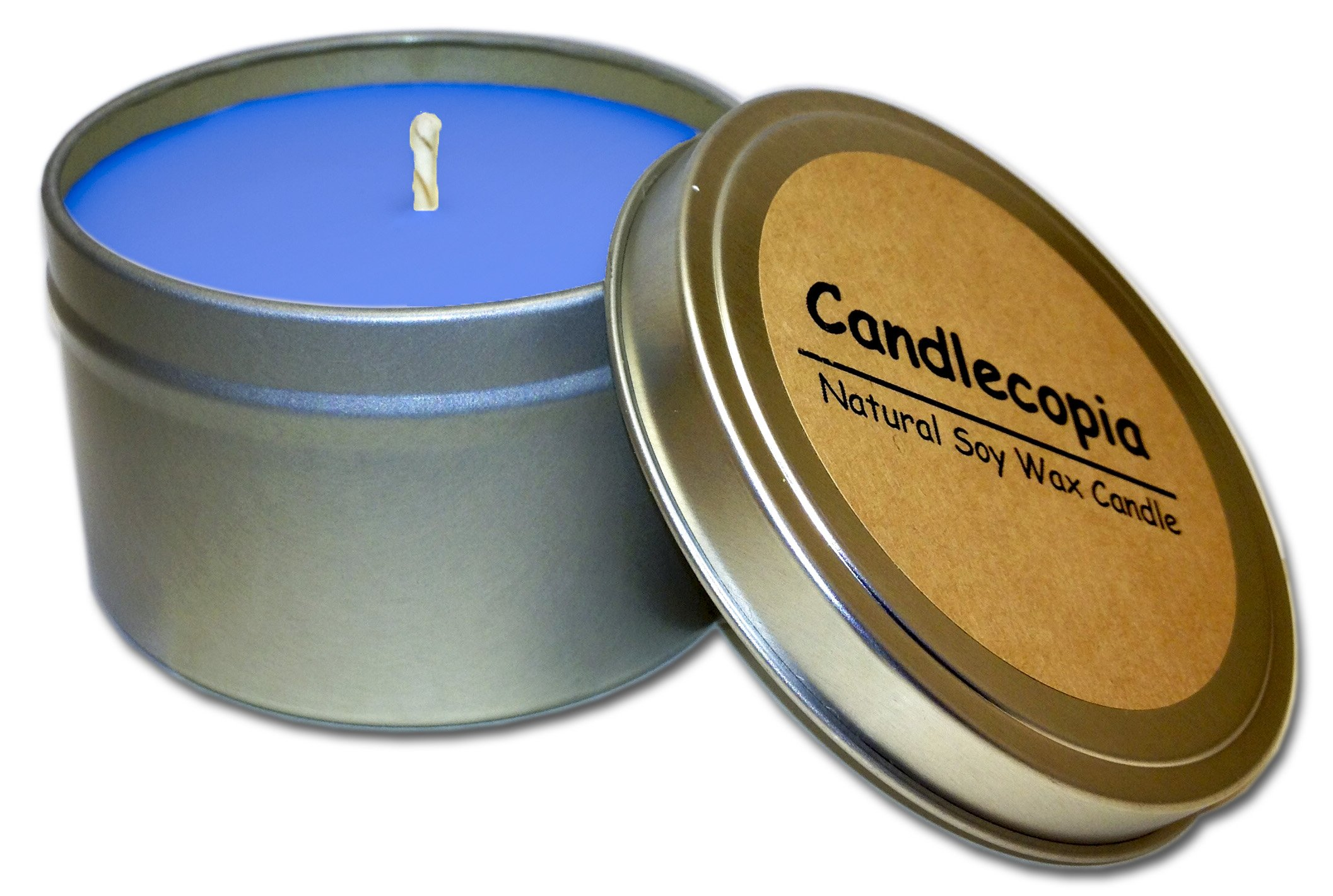 Candlecopia Man Cave Strongly Scented Sustainable Vegan Natural Soy Travel Tin Candle by Candlecopia