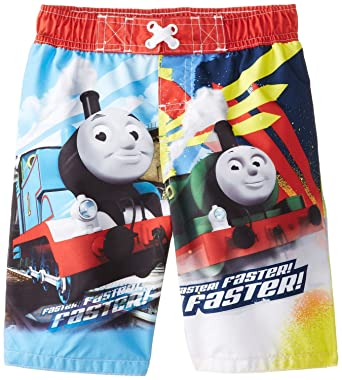 f073413806 Amazon.com: Thomas the Tank Engine Little Boy Swimsuit Swim Trunk ...