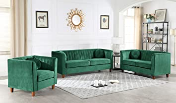 Amazon.com: Container Furniture Direct Brennon Sofa ...