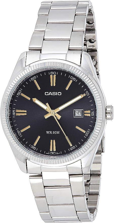 Casio MTP 1302D 1A2VDF Montre avec Bracelet en Acier fdUOV