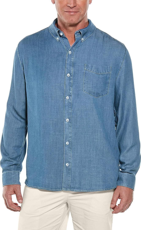Coolibar UPF 50+ Men's Spencer Chambray Shirt - Sun Protective