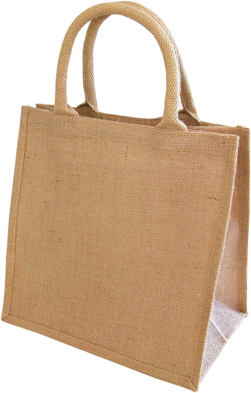 Yellowboots Wholesale Jute Hessian Small Medium Large Shopping Bags, No. of Bags: 20, Size: Medium Shopper (M3) 30x30x20cm