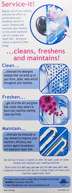 Dr Beckmann Service-it – Limpiador para lavadoras: Amazon.es ...