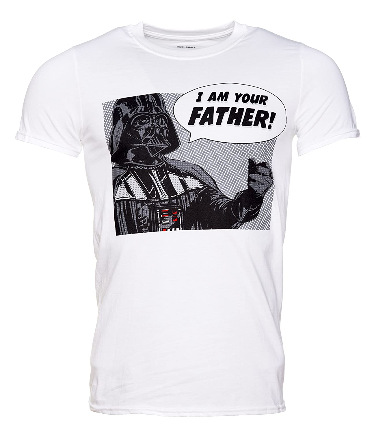Mens White Star Wars I Am Your Father Darth Vader T Shirt