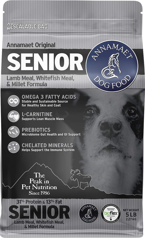Annamaet Original Senior Dry Dog Food, (Lamb, Whitefish & Millet)