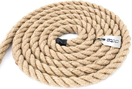5m 60mm JUTESEIL Naturfasern gedreht Tauwerk Hanf Jute Tau Seil Tauziehen Absperrseil Handlauf