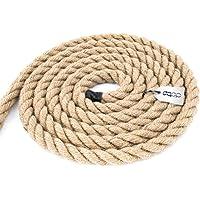 Natuurlijk jute touw gedraaid 3-streng - verschillende maten en lengtes #01-5m #04-12mm