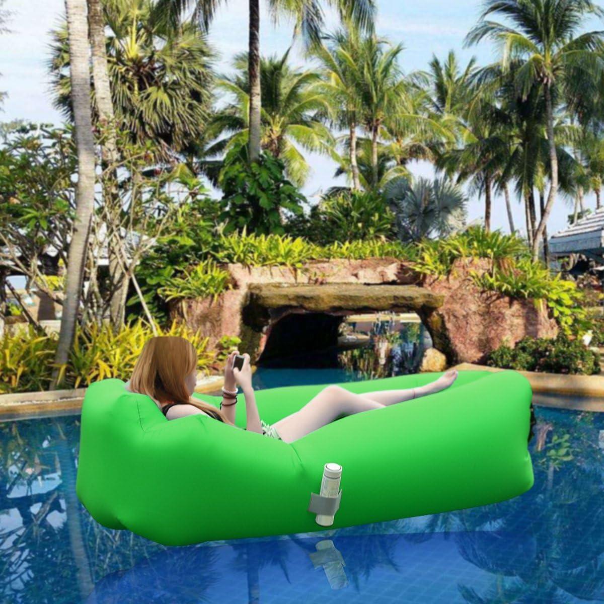 IREGRO aufblasbares Sofa New Version tragbarer Sitzsack wasserdichtes Aufblasbare Couch air Lounger Outdoor Sofa f/ür Camping
