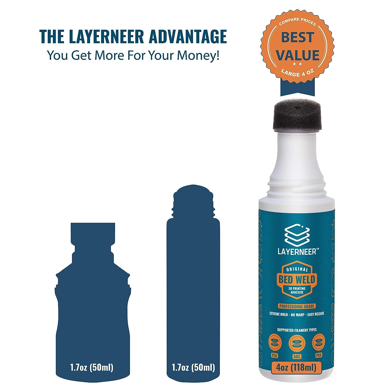 Amazon.com: Layerneer - Adhesivo para impresora 3D, diseño ...