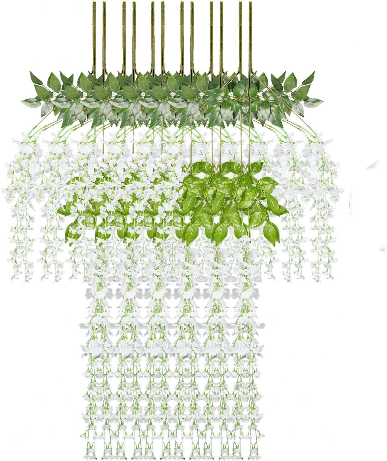 KATELUO eucalipto Artificial,Plantas Artificiales Exterior,eucalipto Hojas,Hiedra Artificial,para el Arco de la Boda y la decoración de Interiores, ...