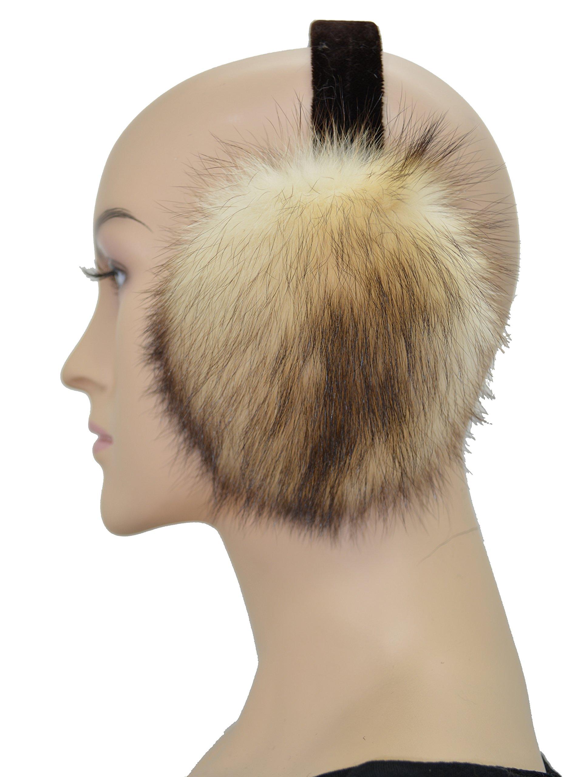 Mink Fur Ear Muff (Ermine(brown top))