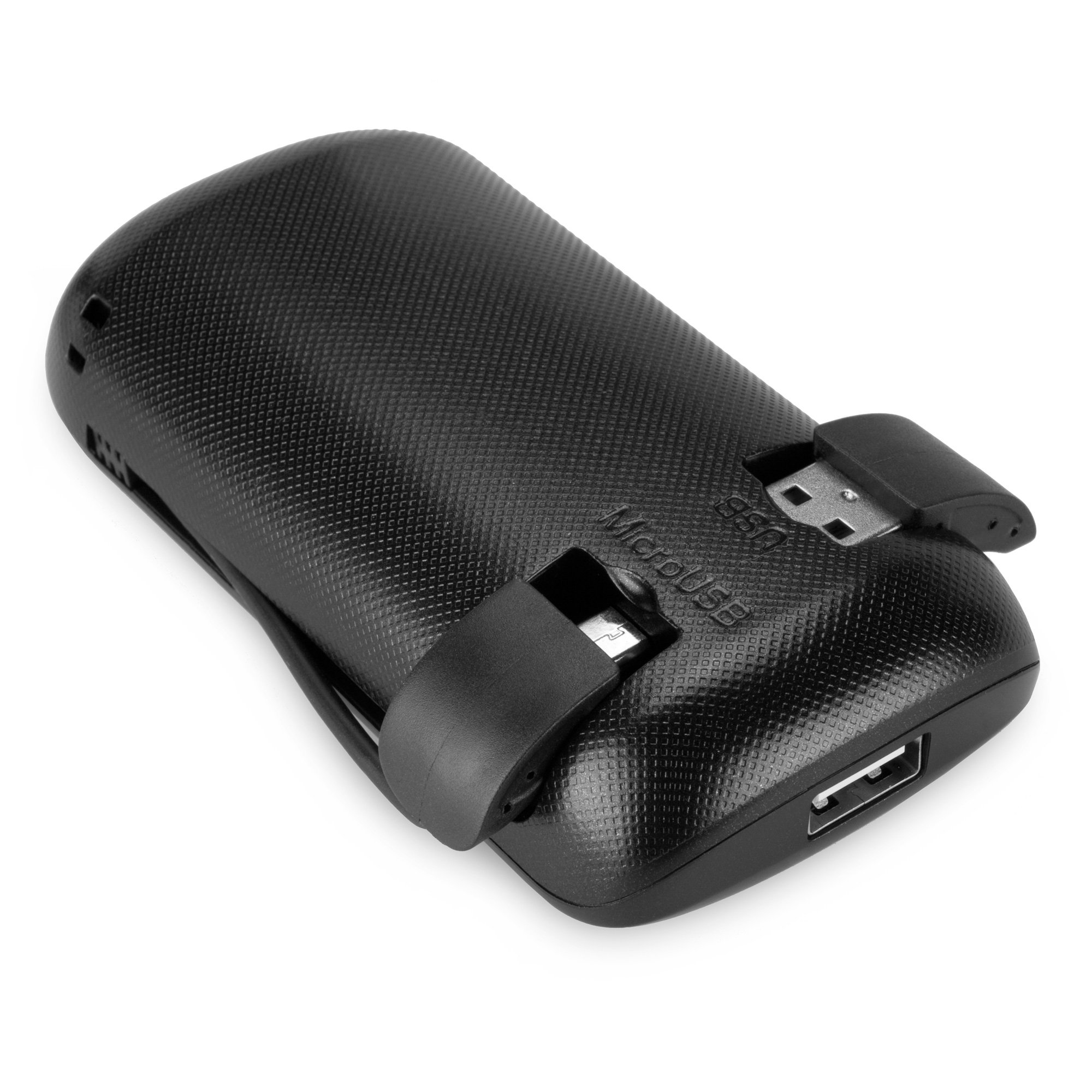 BoxWave Rejuva Power Pack Pro Power Bank - Compact, Portable 4,400 mAh Rechargeable Li-ion Battery Charger and Power Bank - Compatible with Apple iPhone 5, iPhone 6, iPad 3, iPad 4, iPad Air, Samsung Galaxy S4, Galaxy S5, OnePlus One, and many more! (Blac by BoxWave (Image #4)