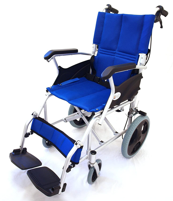 ケアテックジャパン 介助式 アルミ製 車椅子 スマイル -介助式- ブルー CA-80SU B00ODMWBF8
